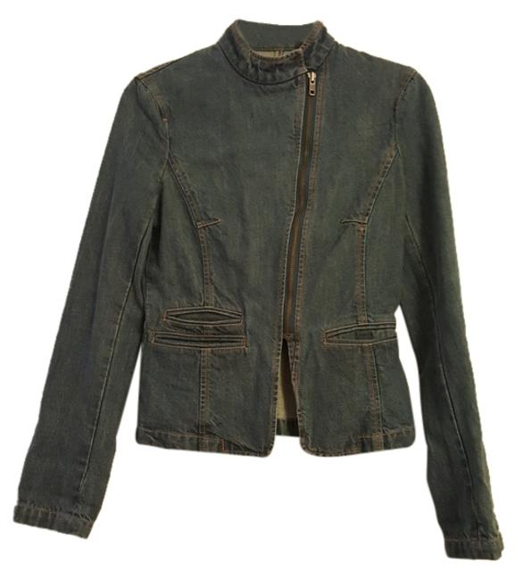 Preload https://item2.tradesy.com/images/french-connection-blue-zipper-moto-denim-jacket-size-2-xs-10288291-0-1.jpg?width=400&height=650
