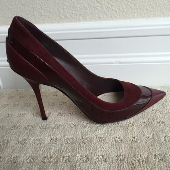 Dior Burgundy Pumps