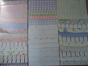 Laura Ashley Pastels 35 Fabric Squares ~ Great For Bunting Swag Project Reception Decoration