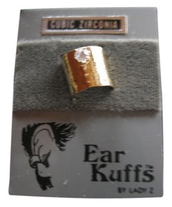 Other Brand New Ear Cuff - Vermeil Finish - Cubic Zirconia -Individual Cuff (not a pair)