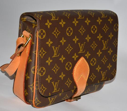 Louis Vuitton Shoulder Monogram Canvas Cowhide Cross Body Bag