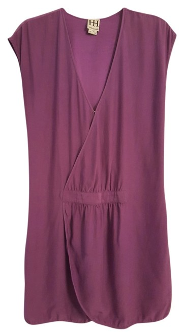 Preload https://item3.tradesy.com/images/haute-hippie-purple-silk-v-neck-slitcut-coverup-mid-length-short-casual-dress-size-2-xs-10289212-0-1.jpg?width=400&height=650