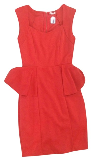 Preload https://img-static.tradesy.com/item/10289263/red-mid-length-night-out-dress-size-4-s-0-1-650-650.jpg