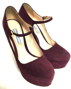 Prada Milano Wine Pumps