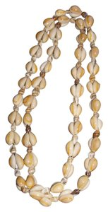TAN/ BEIGE SMALL PUCA SHELL NECKLACE 34
