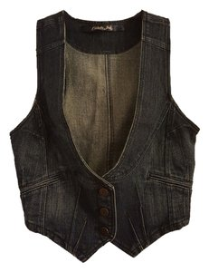 Celebrity Pink Cotton Denim Polyester Vest