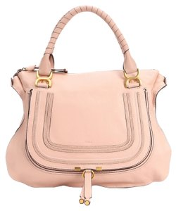 Chloé Satchel in Anemone Pink