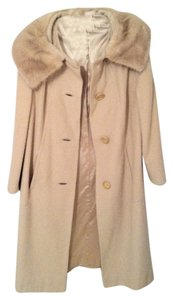 Sears Fashions Cashmere Fur Soft Lined Coat