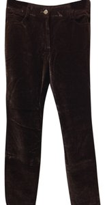Courage b Velvet Brown Trouser Casual Office Work Career Straight Pants Brown velvet