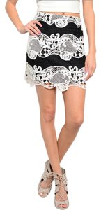 Mustard Seed Women Ladies Mini Skirt Black, White
