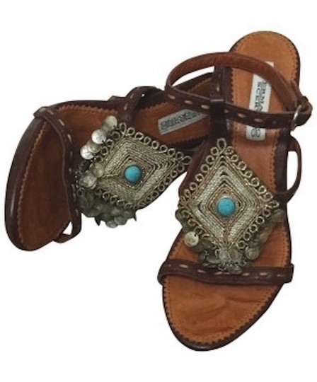 Preload https://item5.tradesy.com/images/brown-ermanno-scervino-turquoise-stone-and-dangling-coins-embellished-leather-sandals-size-us-85-reg-10291234-0-2.jpg?width=440&height=440