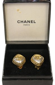 Chanel Chanel Signature Coco CC Two Tone Classic CC Monogram Gold Earrings