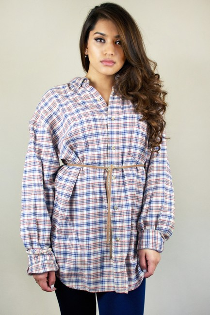 920 East Vintage 1990s 90s Flannel Flannel Flannel Shirt Boyfriend Flannel Oversized Oversized Flannel Oversized Shirt Vintage Button Down Shirt Red, Navy, Tan