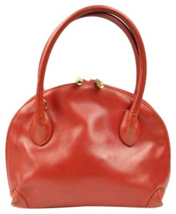 Gucci Leather Bowler Bowling Satchel in Red
