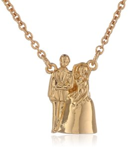 Kate Spade Gold 'cake Topper' Bride Groom Pendant Necklace