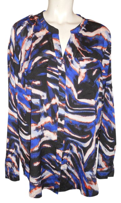 Preload https://item1.tradesy.com/images/calvin-klein-black-blue-white-and-rust-print-button-down-top-size-16-xl-plus-0x-10291855-0-1.jpg?width=400&height=650