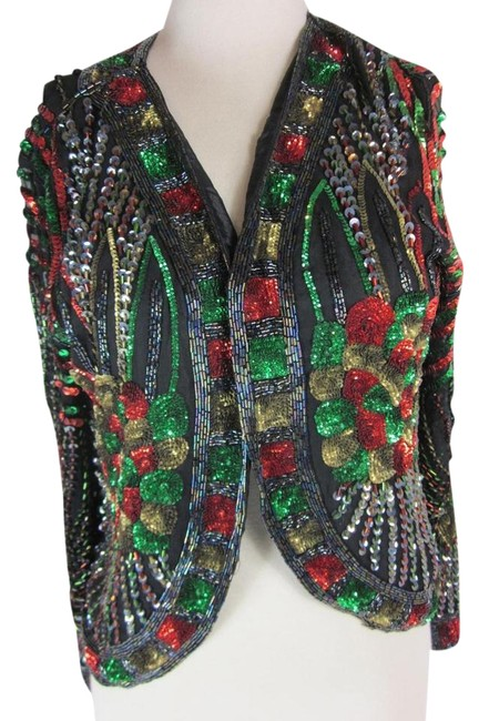 Preload https://item5.tradesy.com/images/black-and-multi-color-silk-party-holiday-sz-m-long-sleeve-sequined-night-out-top-size-8-m-10292239-0-2.jpg?width=400&height=650