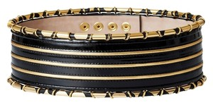 Balmain x H&M Balmain X H&M Leather Waist Belt Women's Size M/L Medium Large Black HM NEW - Made in Italy