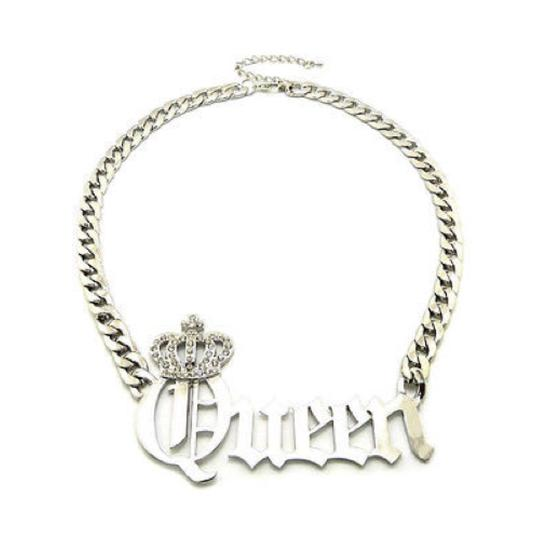 Other New Silver Rhinestone Queen Chain Necklace
