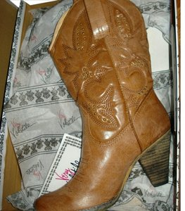 Target Cowboy Boot Faux Leather Medium Brown Boots
