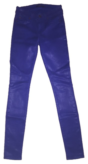 Preload https://item2.tradesy.com/images/7-for-all-mankind-bright-cobalt-the-in-high-shine-leather-like-skinny-jeans-size-24-0-xs-10292671-0-1.jpg?width=400&height=650