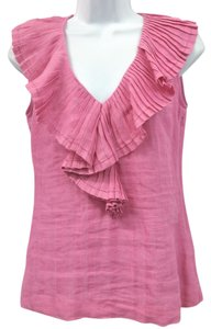 Tory Burch Linen Top PINK