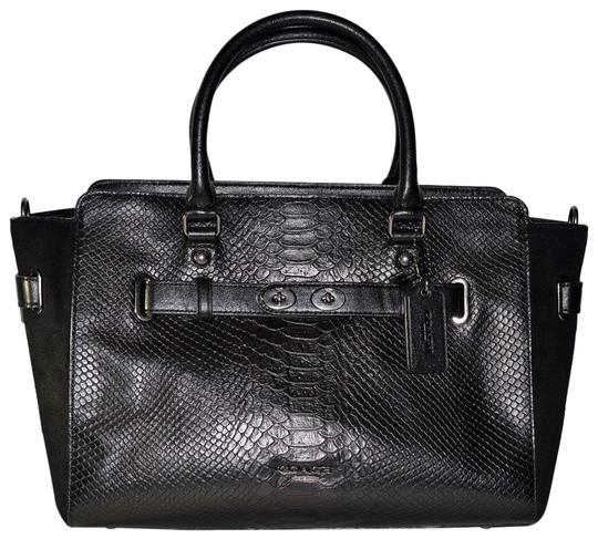 Preload https://img-static.tradesy.com/item/10292935/coach-carryall-exotic-python-embossed-black-leather-tote-0-5-540-540.jpg