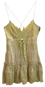 Tracy Reese short dress Taupe/green on Tradesy