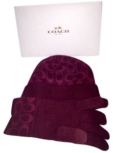 Coach Coach Hat & Gloves