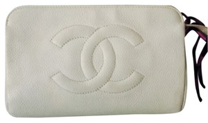 Chanel Authentic Chanel Caviar Cosmetic Pouch Coin Puse . Good Condition