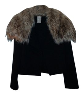 Dolan Black jacket faux fur collar Jacket