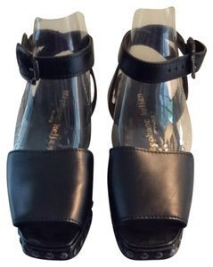 Stefane Kelian Clog Platform Rivets Fierce Black Sandals