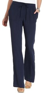Charter Club Low Rise Relaxed Fit Straight Leg Inseam: 31 Inches Wide Leg Pants Blue