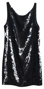Banana Republic Sequin Shift Shift Scoop Sleeveless Mini Party Sparkle Dress