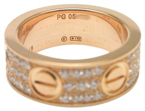 Cartier Cartier Rose Gold Love Ring with Pave Diamonds