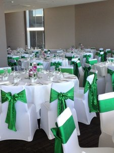 Leaf Green Chair Bows