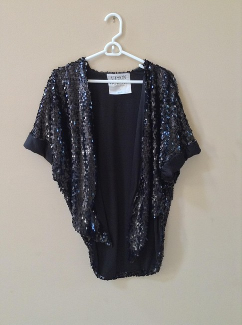Upson Downes by William Anzevino Sequin Sparkle Night Out Urban Outfitters Glam Black Jacket