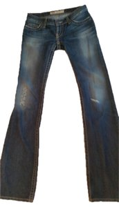 BKE Stella 26 Long Boot Cut Jeans-Dark Rinse