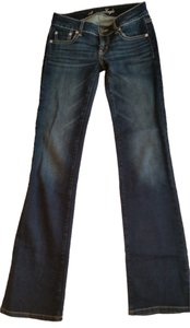 American Eagle Outfitters Ae 0 Long Boyfriend 0 Long Stretch Boot Cut Jeans-Dark Rinse