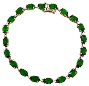 Other Genuine Rare Russian Chrome Diopside Tennis Bracelet