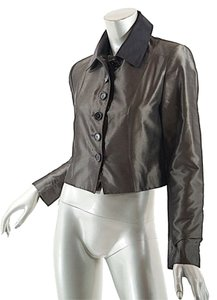 Pauw Amsterdam Silk Satin Crop Olive Jacket