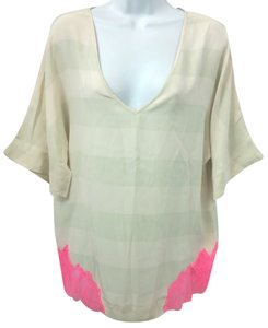 Elizabeth and James Beige Top BEIGE/PINK
