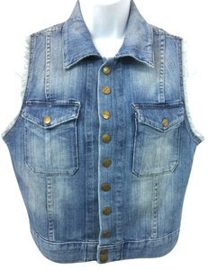 Current/Elliott Stretchy Denim Top BLUE