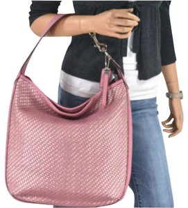 Coach Leather Woven Hobo Shoulder Bag