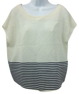 Joie Silk Top OFF-WHITE/BLUE
