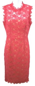 Mikael Aghal Lace Sheath Dress