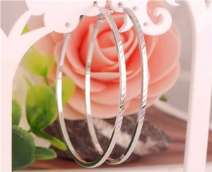 Large Sterling Silver Hoop Earrings Free Shipping