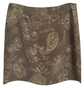 Express Paisley Mini Skirt Beige