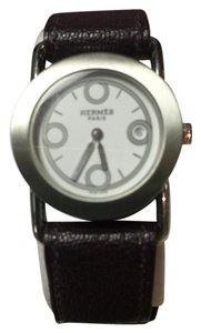Hermès Hermes Barenia Rondo SS Leather White Dial Women's Watch