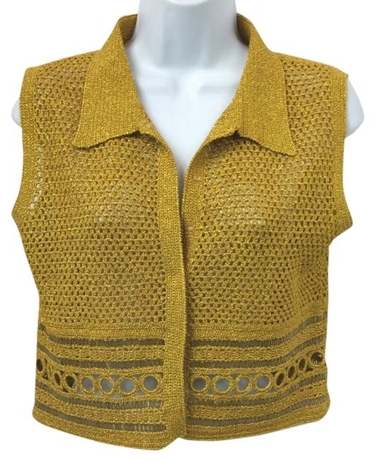 Preload https://img-static.tradesy.com/item/10298254/philosophy-di-alberta-ferretti-gold-sleeveless-knit-us-i-44-blouse-size-8-m-0-2-650-650.jpg